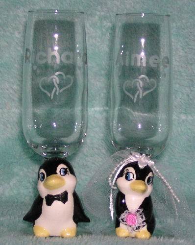 Penguin Collection by Angela's Creations - Penguin Wedding Cake Tops