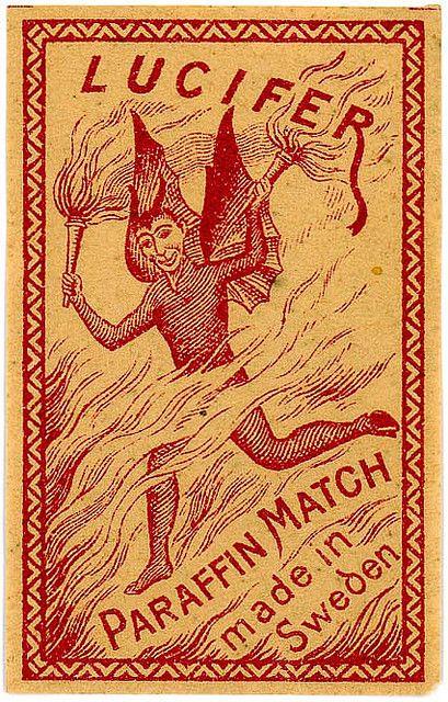 Match Box Label Lucifer Paraffin Match Flickr Photo