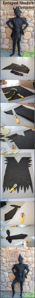 DIY Peter Pan's Escaped Shadow Costume  - #art, #diy, craft SUHWEEEEEET