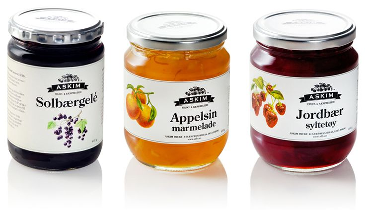 Jars of Askim are preserves made in Norway.