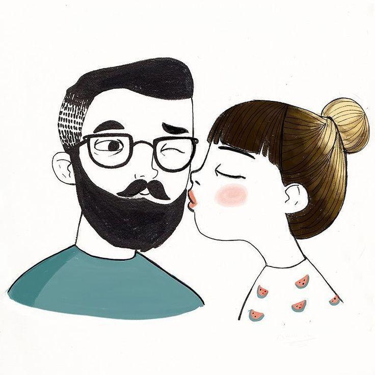 No me ha dado tiempo de hacer algo nuevos así que rescato él dibujo que hice él año pasado con algún retoquito feliz día del beso! . #kiss #beso #illsutration #mariahesseillustration #ilustracion #diadelbeso #kissing #kiss #internationalkissingday #diainternacionaldelbeso #beso #instaart #instsgood #instadraw by mariahesse