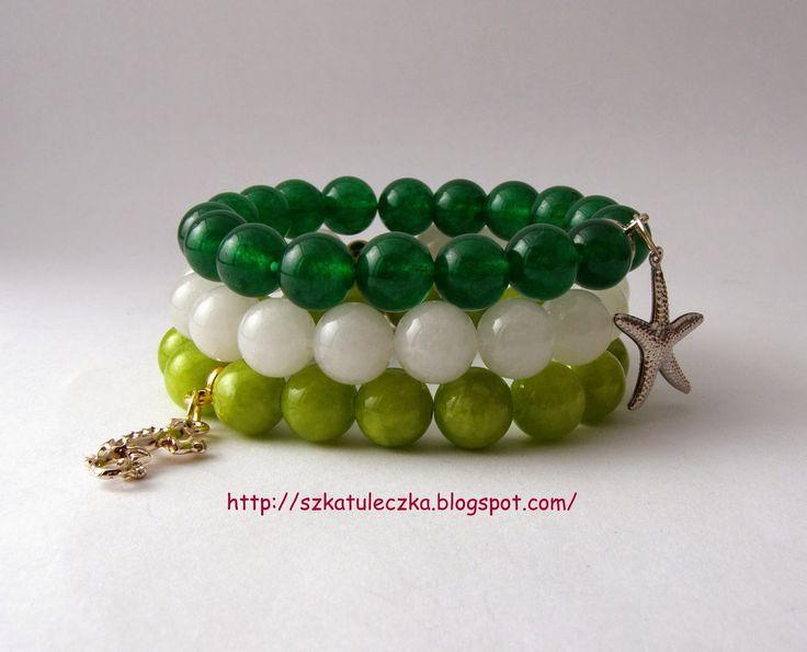 Zielono biały komplet :)