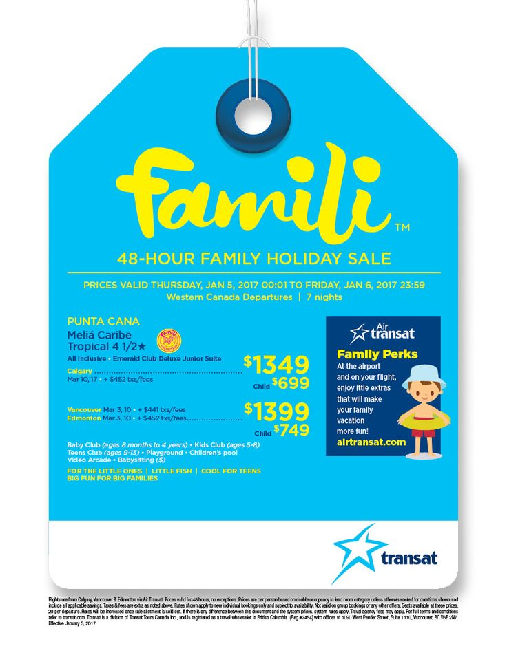 Famili Sale Jan 5, 2017 - Stand Alone - Western Canada - When you click on the link below you'll be invited to enrol directly - instead contact me directly to book your trip and I'll ensure you get the best price and service you deserve - email me at jpringle@cruiseshipcenters.com or cell 250-588-0969