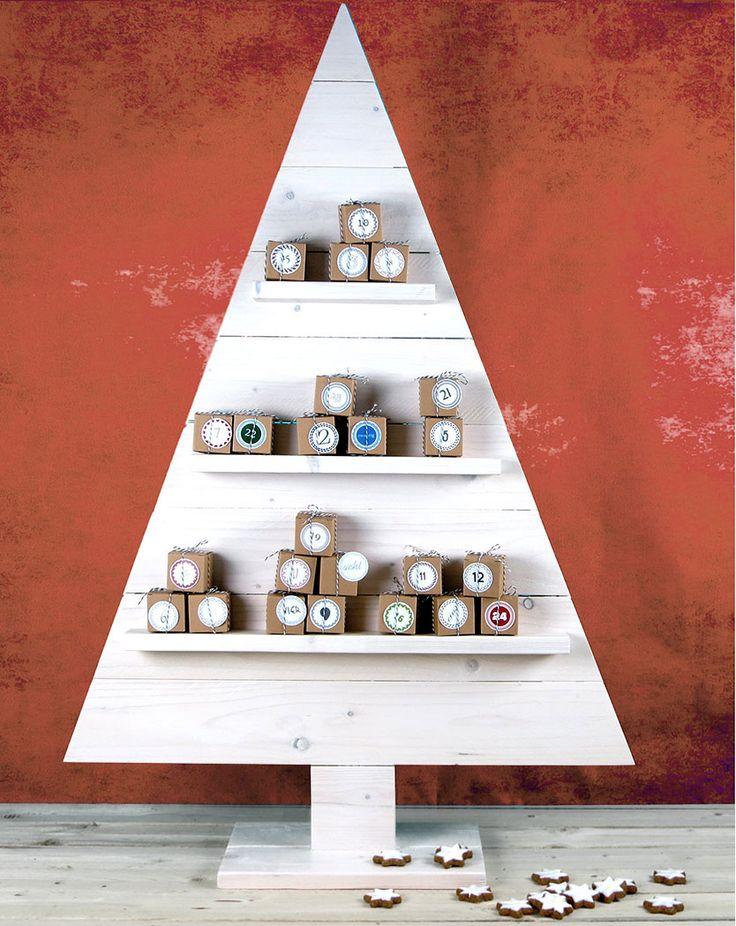 98 besten adventskalender bilder auf pinterest for Weihnachtsbaum selbst basteln