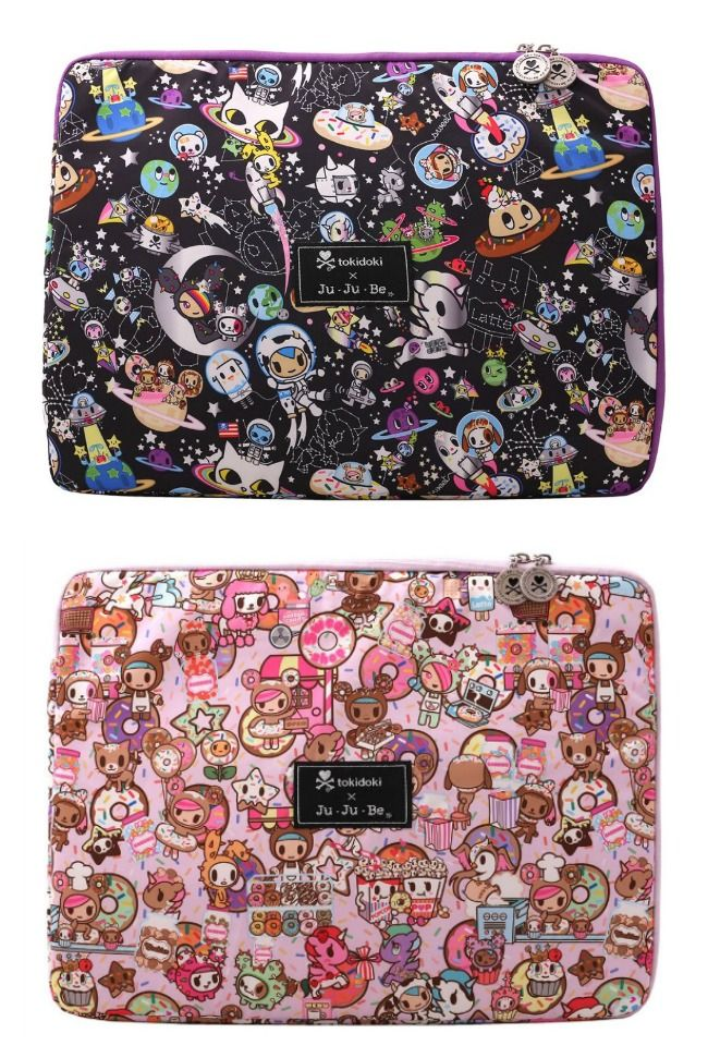 We're excited about the new anime laptop sleeves from Tokidoki and Ju-Ju-Be