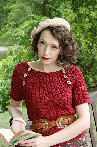 """another pattern from Vogue's """"A Stitch in Time: Vintage Knitting"""" - guess I need to get this book!"""