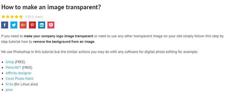 How to make an image transparent? #how2joomla #tutorial #image https://djex.co/2vV64Sd