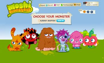 Moshi monsters online game