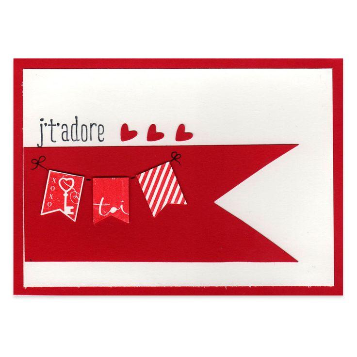26 best cartes saint valentin images on pinterest cards heart cards and red - Carte de saint valentin ...