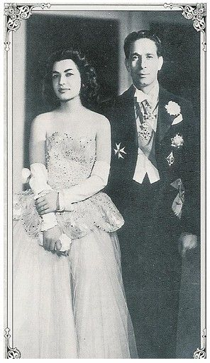 Ashraf Pahlavi & her second husband Ahmed Chafik Jr.