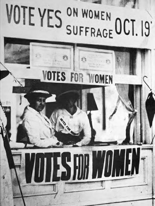 Votes for Women booth