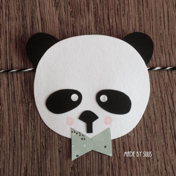 Hippe panda slinger voor een leuk panda feestje of stoere zwart wit kinderkamer