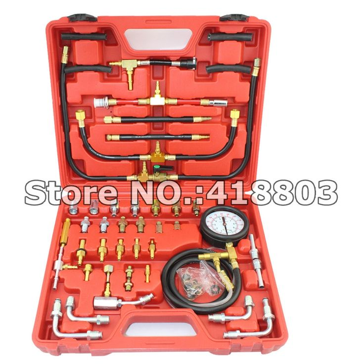 52.00$  Watch now - http://alihjc.worldwells.pw/go.php?t=781213371 - TU-443 Deluxe Manometer Fuel Injection Pressure Tester Gauge Kit system 0-140 psi 52.00$