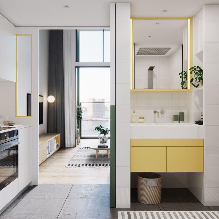 Die besten 25+ Yellow scandinavian bathrooms Ideen auf Pinterest - badezimmer skandinavischen stil