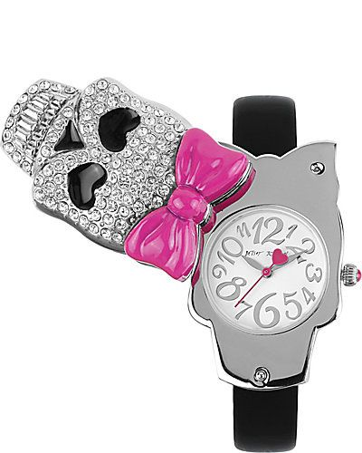 FLIP SKULL FACE WATCH BLACK: Cases Watches Nordstrom Lov, Johnson Pave, Watches Black, Swivel Cases, Skull Swivel, Johnson Watches, Betsey Johnson, Pave Skull, Bestey Johnson Jewelry