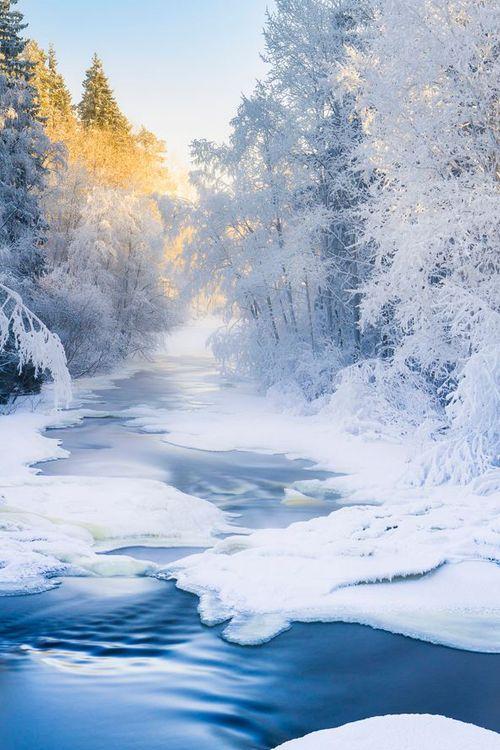 Winter River ~ By Ilari Lehtinen