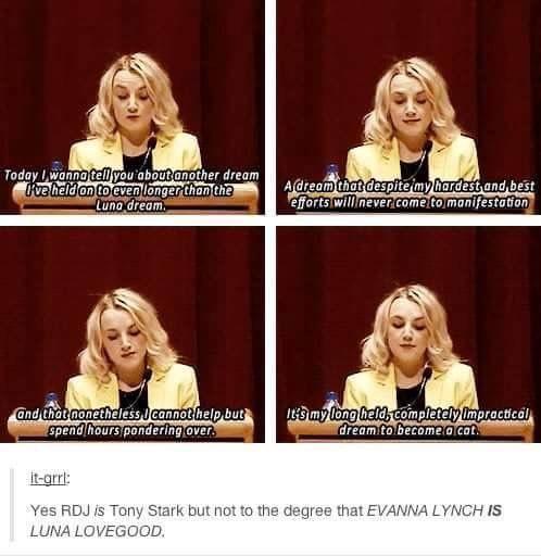 Evanna Lynch is Luna Lovegood