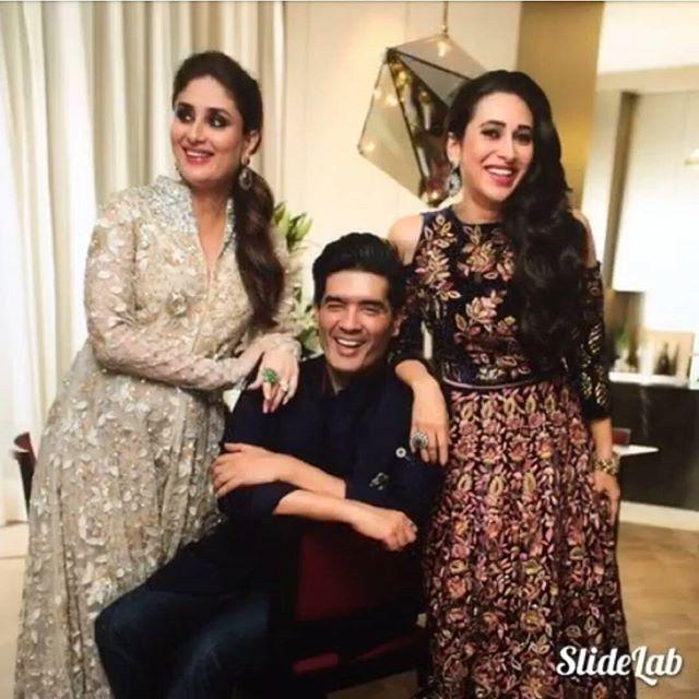 Kareena & Karishma Kapoor and Manish Malhotra .