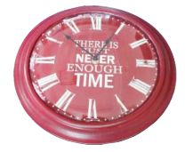 UH51057 Red Never Enough Time Clock 33cm
