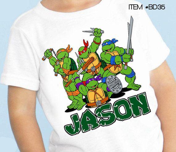 TMNT teenage mutant ninja turtles Birthday by maryahdesigns, $10.00