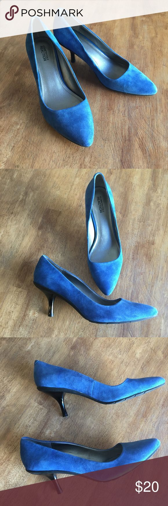 Blue Suede Pumps Blue suede heels.  EUC Kenneth Cole Shoes Heels