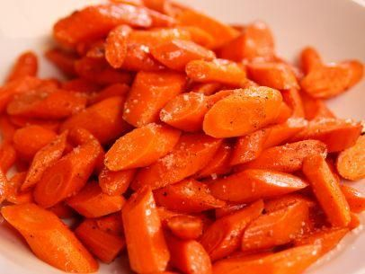 "Orange-Honey Glazed Carrots (A Barefoot Thanksgiving) - Ina Garten, ""Barefoot Contessa"" on the Food Network."