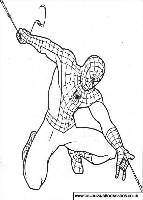 Spiderman libros para colorear preescolar