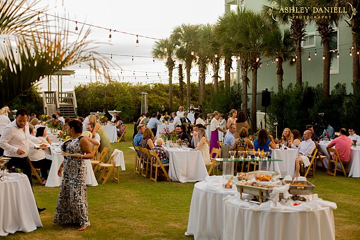 Triple crown house beach wedding outdoor wedding for Beach house reception ideas