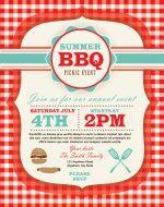 bbq picnic flyer templates