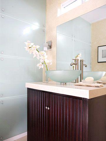 DIY Bathroom Projects: Diy Bathroom, Frosted Glass, Glass Walls, Bathroom Ideas, Bathroom Projects, Easy Diy, Powder Rooms