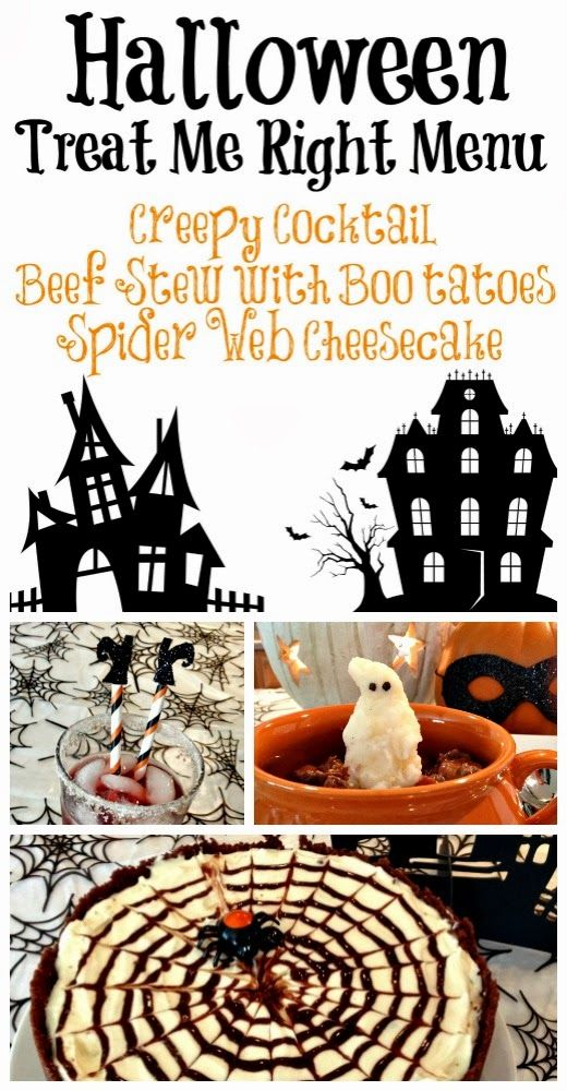 Treat Me Right Halloween Menu (Recipes Included) #halloween #cheesecake