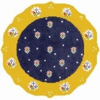 Blue French Plate; needlepoint.com
