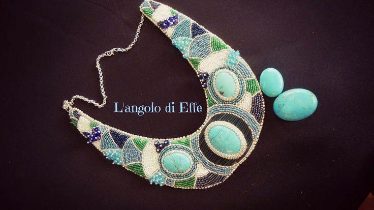 l'angolo di Effe:embroidery necklace