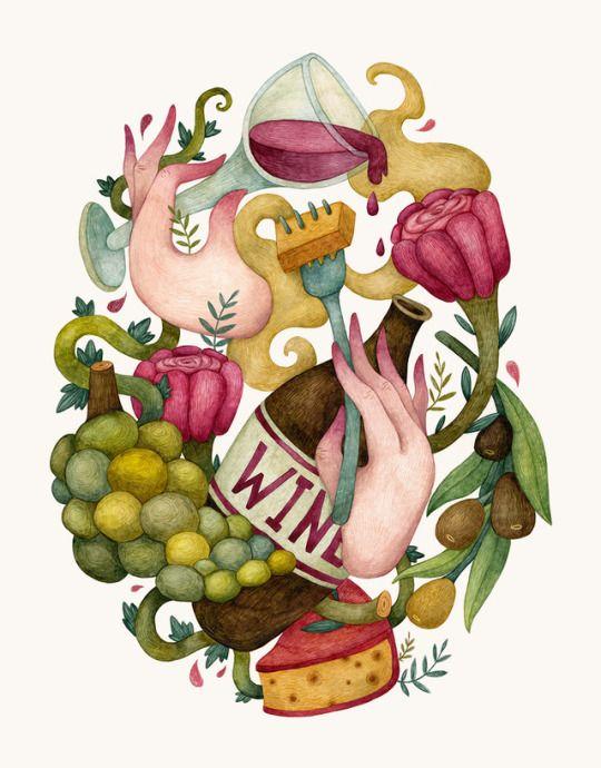 For all wine lovers. Olga Svart Illustration