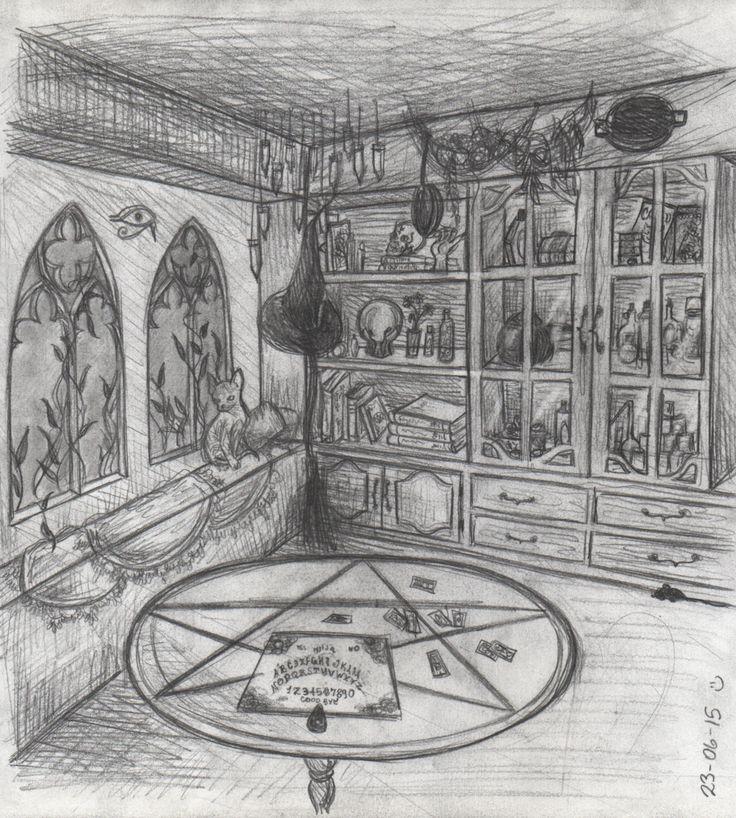 A Witch's room by EldritchPrincess.deviantart.com on @DeviantArt