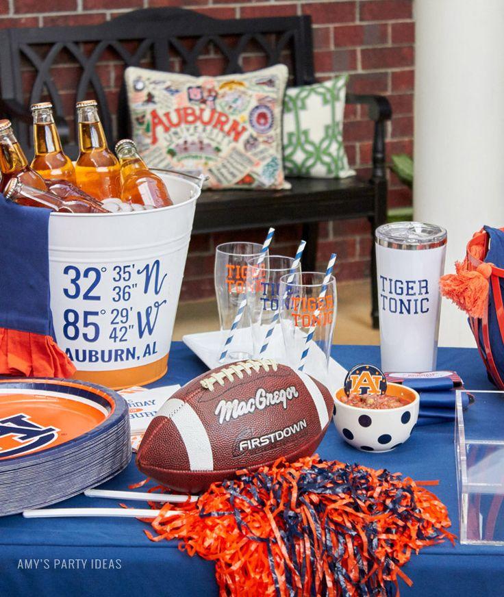 Auburn Football Tailgate Ideas | Saturday down South | Football Tailgating | Football Watch Party | AmysPartyIdeas.com | Swooies.com