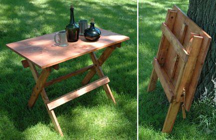 Folding Camp Table For Civil War Era Camp Camping Mod