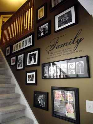 would this make my stairway feel closed in, cause I like that pics are on display but not out in public areas of my home