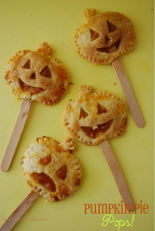 Pumpkin Pie PopsPies Recipe, Halloween Recipe, Pie Pops, Halloween Pumpkin, Pies Pop, Picky Eaters, Halloween Ideas, Pumpkin Pies, Parties Food