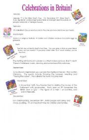 English Worksheets: CELEBRATIONS IN BRITAIN
