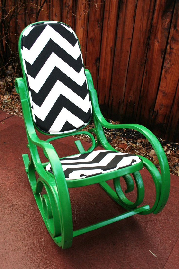Bentwood rocking chair makeover - Thonet Bentwood Style Revamped Kelly Green Rocking Chair By Mzad 375 00