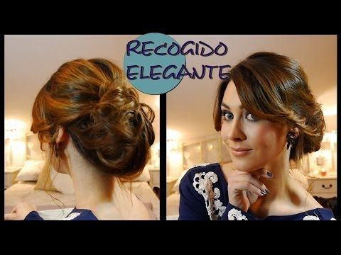 Peinado/Recogido elegante de fiesta fácil. Elegant and easy updo for parties - YouTube