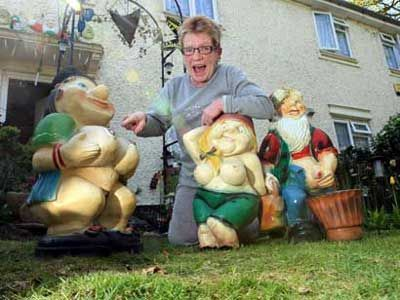 Funny Garden Gnomes | But Now Sandra, 64, Has Had To Drape T
