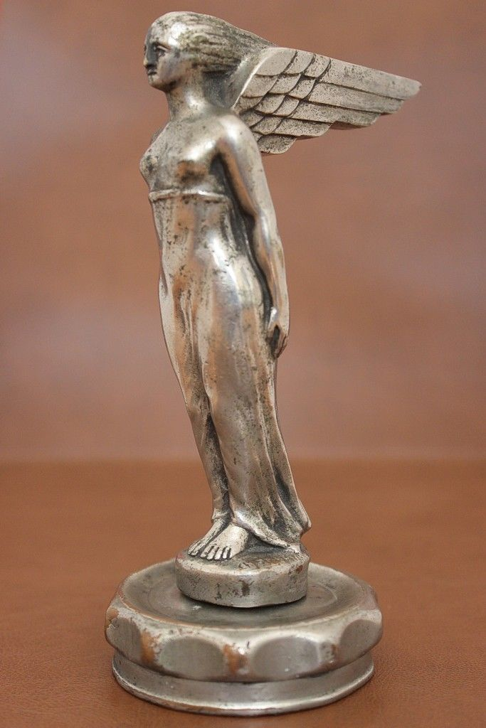 1920s WINGED GODDESS RADIATOR CAR MASCOT - HOOD ORNAMENT SIGNED CH.SOUDANT