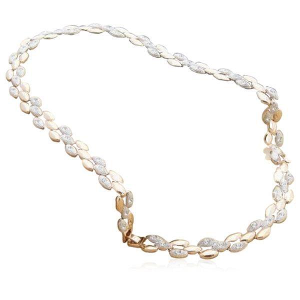 Fiona - Swarovski Crystal Gold Necklace & Earrings & Bracelet Set