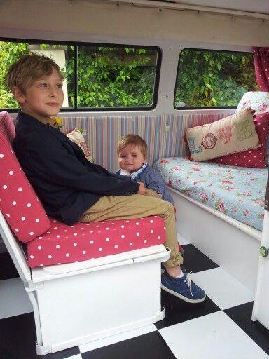 Cath Kidston inspired vw campervan interior