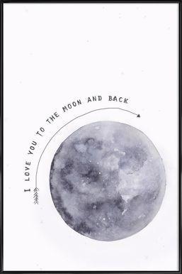 Moon - Maren Kruth - Poster im Kunststoffrahmen