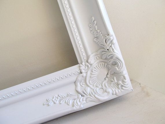 Ornate Frame Shabby Chic Picture Frame Large Baroque Collage Vanity Mirror Gesso Wedding Photo Prop 20inx30in - YOUR COLOR CHOICE on Etsy, $139.00