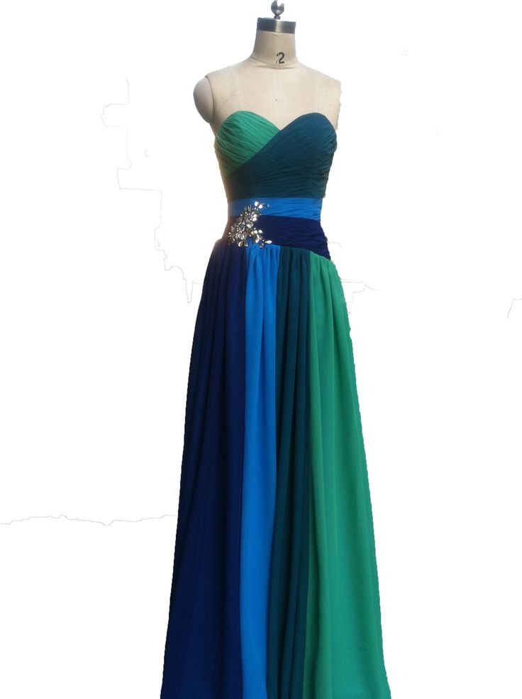 ==> [Free Shipping] Buy Best Real Photos Multi Color Prom Dress Chiffon Pleat Long Formal Evening Gowns Crystal Robe De Custom Made/Size 2016 Online with LOWEST Price | 32497053902