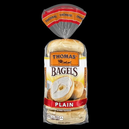 Thomas'® PLAIN BAGELS are vegetarian and halal.  All these flavors are okay: Cinnamon Swirl, Cinnamon Raisin, Everything, Onion, Plain, Plain Made with Whole Grain, and 100% Whole Wheat flavors. Also: Thomas' Sahara Pita Pockets and Tortilla Wraps.